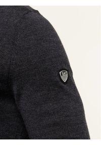 EA7 Emporio Armani Sweter 8NPMZ8 PM62Z 1993 Szary Regular Fit. Kolor: szary
