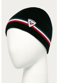 Czarna czapka Rossignol z nadrukiem