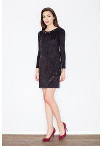 Czarna sukienka Figl casualowa, na co dzień