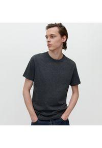 Reserved - T-shirt basic - Szary. Kolor: szary