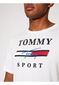 Tommy Sport T-Shirt Graphic Tee S20S200586 Biały Regular Fit. Kolor: biały. Styl: sportowy