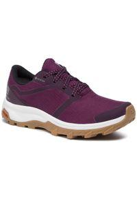 Fioletowe buty do biegania salomon Gore-Tex, z cholewką, na co dzień