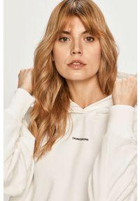 Biała bluza Calvin Klein Jeans gładkie, z kapturem
