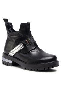 Czarne buty trekkingowe Sergio Bardi z aplikacjami