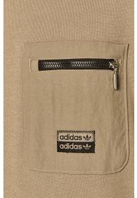 Zielona bluza nierozpinana adidas Originals na co dzień, casualowa, z okrągłym kołnierzem
