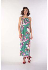 Zielona sukienka wizytowa Nommo na lato, maxi
