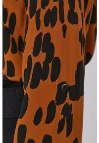 Nissa - NISSA - Koszula. Okazja: na co dzień. Kolor: brązowy. Materiał: tkanina. Długość rękawa: długi rękaw. Długość: długie. Styl: casual