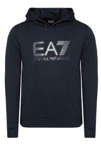 EA7 Emporio Armani Bluza 6KPM62 PJ05Z 1578 Granatowy Regular Fit. Kolor: niebieski