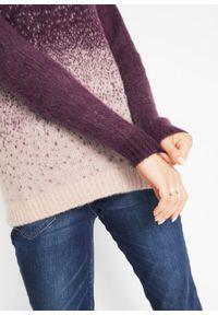 Fioletowy sweter bonprix
