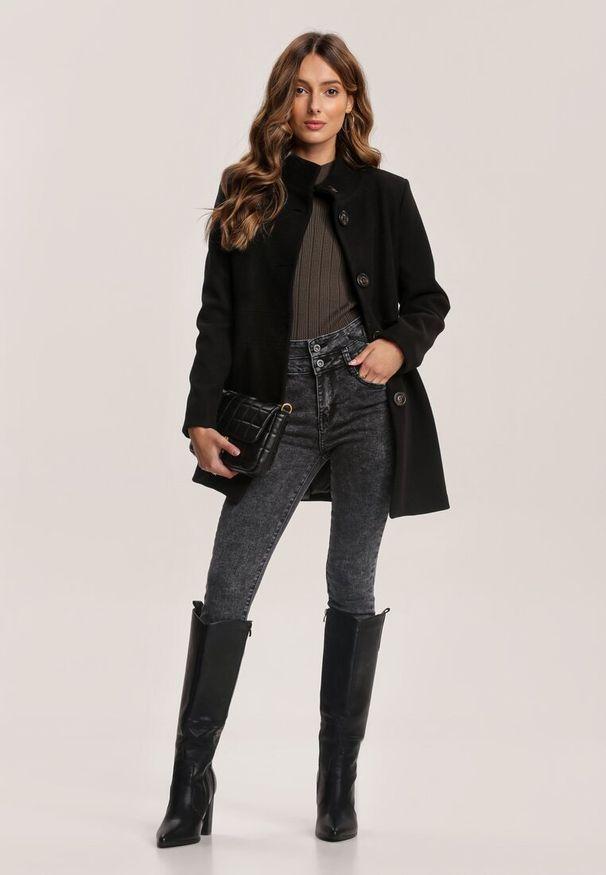Czarne krótki płaszcz Renee