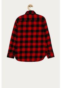 Czerwona koszula GAP casualowa, z długim rękawem, długa