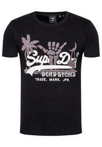 Superdry T-Shirt Vl Itago Tee M1011004A Czarny Regular Fit. Kolor: czarny