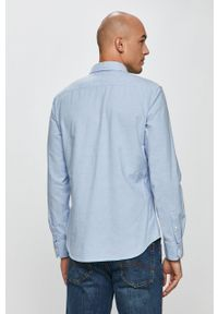Niebieska koszula Levi's® z klasycznym kołnierzykiem, z długim rękawem, długa