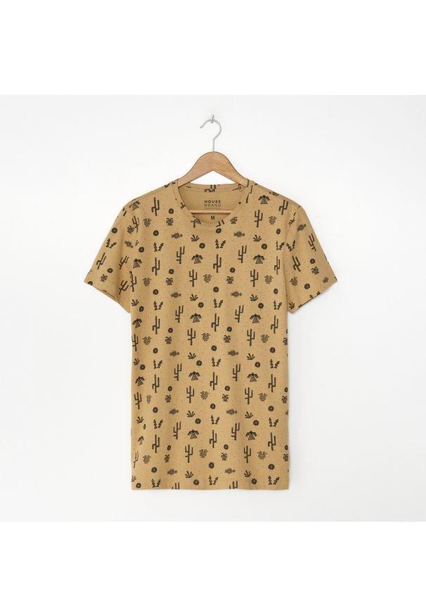Beżowy t-shirt House z nadrukiem