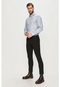 Niebieska koszula Hugo elegancka, z długim rękawem