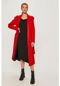 Czerwony płaszcz Love Moschino na co dzień, casualowy, bez kaptura