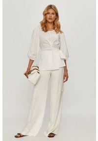 Biała bluzka Beatrice B na co dzień, casualowa, gładkie