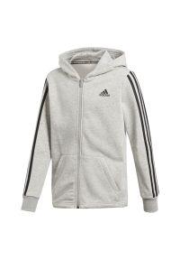 Bluza Adidas z długim rękawem, długa, z aplikacjami, z kapturem