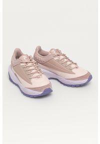 Różowe sneakersy Fila z cholewką, z okrągłym noskiem