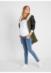 Niebieskie jeansy bonprix sportowe, moda ciążowa