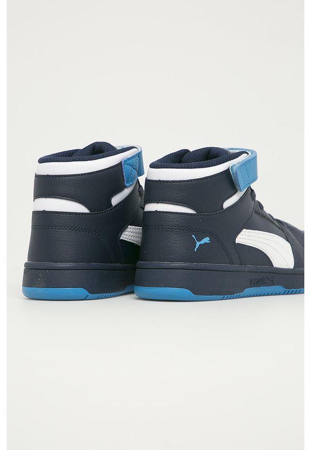 Niebieskie buty sportowe Puma z cholewką, na rzepy