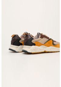 Pomarańczowe sneakersy GANT z okrągłym noskiem, z cholewką