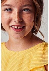 Mayoral - Bluzka dziecięca. Okazja: na co dzień. Kolor: pomarańczowy. Materiał: poliester, tkanina, materiał, bawełna. Długość rękawa: bez rękawów. Wzór: gładki. Styl: elegancki, casual #4