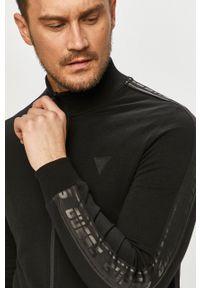 Czarna bluza rozpinana Guess z aplikacjami, casualowa