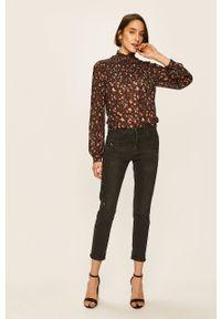 Czarna bluzka ANSWEAR ze stójką, długa, elegancka