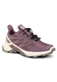 Fioletowe buty do biegania salomon z cholewką, na co dzień
