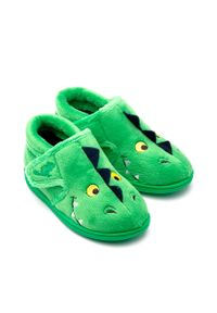 Zielone kapcie Chipmunks z okrągłym noskiem