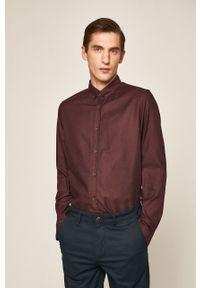 Brązowa koszula medicine button down, elegancka, długa