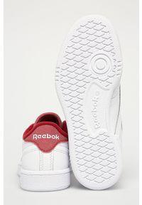 Białe buty sportowe Reebok Classic z cholewką, na sznurówki, z okrągłym noskiem, Reebok Club