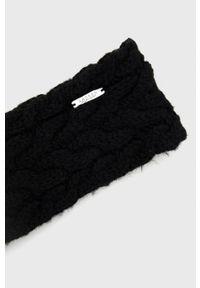 Lauren Ralph Lauren - Opaska z domieszką wełny. Kolor: czarny. Materiał: wełna