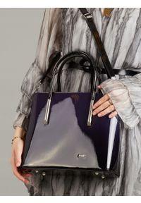 Niebieska torebka ROVICKY elegancka, skórzana