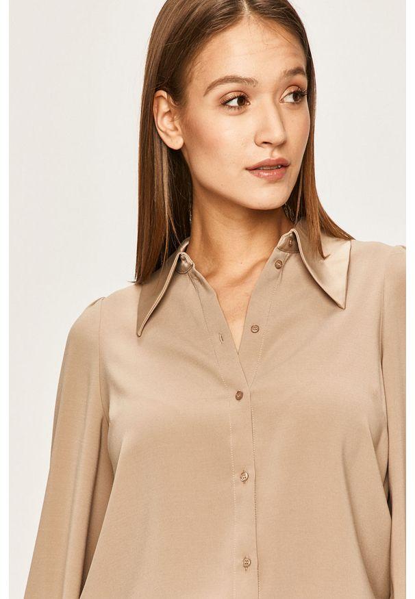 Beżowa koszula Vero Moda na co dzień, długa, casualowa