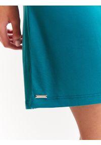 Zielona sukienka TOP SECRET na ramiączkach, na lato, asymetryczna