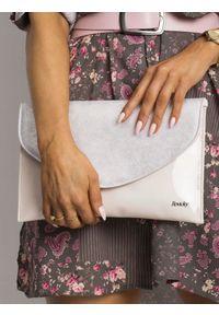 Różowa kopertówka ROVICKY lakierowana, wizytowa