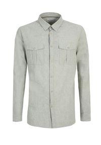 TOP SECRET - Koszula z lnem o dopasowanym kroju. Kolor: zielony. Materiał: len. Długość rękawa: długi rękaw. Długość: długie. Sezon: lato, wiosna #3