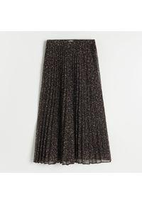 Reserved - Plisowana spódnica midi - Wielobarwny