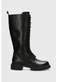 MEXX - Mexx - Kozaki Horizon. Nosek buta: okrągły. Kolor: czarny. Materiał: guma