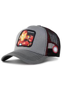 CapsLab - Czapka z daszkiem CAPSLAB - Marvel Iron Man CL/MAR/1/IRO3 Gris. Kolor: szary. Materiał: materiał, bawełna, poliester. Wzór: motyw z bajki