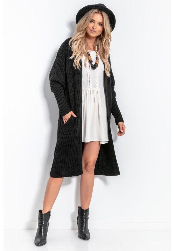 Czarny sweter Fobya długi