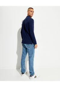 Ralph Lauren - RALPH LAUREN - Granatowa koszulka polo z długim rękawem. Typ kołnierza: polo. Kolor: niebieski. Długość rękawa: długi rękaw. Długość: długie. Wzór: haft
