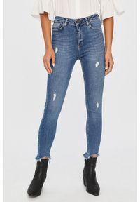 Niebieskie jeansy Answear Lab w kolorowe wzory, wakacyjne