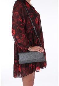Casu - Czarna torebka wizytowa brokatowa casu 26. Kolor: czarny. Styl: wizytowy