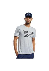 Koszulka sportowa męska Reebok Workout Ready FK6216. Materiał: wiskoza, poliester, materiał. Długość rękawa: krótki rękaw. Długość: krótkie. Sport: fitness