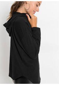 Czarna bluzka bonprix długa, z kapturem