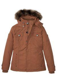 Brązowa kurtka bonprix na zimę