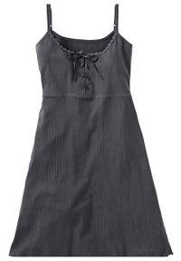 Koszula nocna na cienkich ramiączkach bonprix szary łupkowy